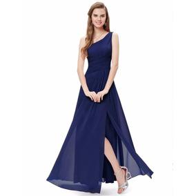 Vestido Largo Fiesta Azul/gala/ Matrimonio Largo