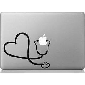 Apple Macbook Vinyl Decal Sticker - Corazón Del Estetoscopio