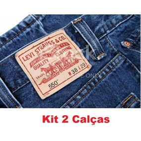 Kit 2 Calças Jeans Levis (corte Reto)
