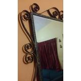 Espejo Grande Marco De Hierro Forjado