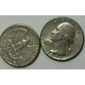 Quarter Dollar Ano 1971 Liberty Moeda Antiga Americana Rara