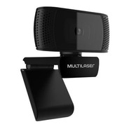 Webcam Full Hd 1080p 4k Microfone Usb Preto Multilaser Wc050