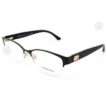 Lentes Versace Ve1222 1342 Black Gold Original Dama Nuevo