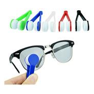 Limpia Lentes Anteojos Gafas Pinza Microfibra X5 Unidades