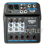 Mixer Audio Usb 4 Canales Interfaz Phantom Microfono U4