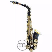 Saxofone Milano Alto Preto Tubo E Chaves Laqueadas Eb . Loja