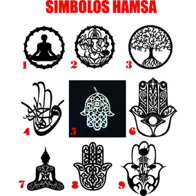 Placa De Parede Hamsa E Mandalas Mdf Cru Escultura De Parede