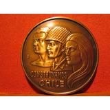 Medalla De Casa De Moneda Construyamos Chile Regimen Militar