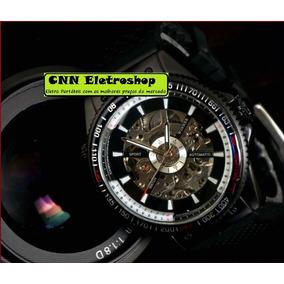 Relógio Automático Winner Esportivo C/ Pulseira De Silicone