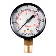 Manómetro Para Compresor Carátula 2, Conex Inf 1/4, 300 Psi