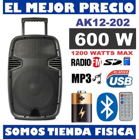 Corneta Amplificada 12 + Bateria 600w + 2 Microfonos Tienda