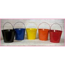 1 Cubetitas De Colores En Lamina Galvanizada De 11.5 Cm.