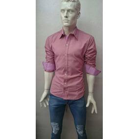 Camisa Rosa De Hombre Slim Fit