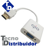 Convertidor Hdmi A Vga Marca Gio. Ps3 Blu-ray, Dvd, Tv Td