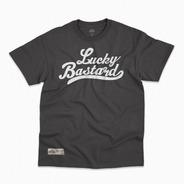 Playera - Logo Lucky Bastard Negra Streetwear