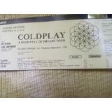 Ingresso Show Coldplay Cad Inferior Inteira 8/11 Fisico