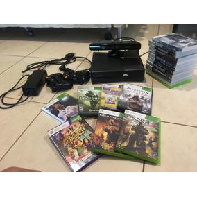 Xbox 360 Desbloqueado Com Kinect E Jogos