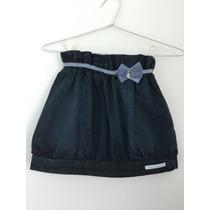 Lilica Ripilica - Saia Jeans Com Laço Azul. Tamanho 8.