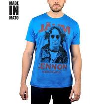 Camiseta Made In Mato Jãum Lennon - Azul Royal