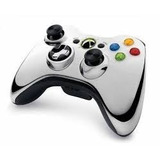 Controle Xbox 360 Chrome Series Prata