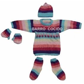 Sweaters Pullover Lana De Alpaca C/gorro, Guantes, Medias