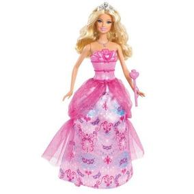Barbie Princesa, 3 Vestidos De Princesas De Cuento