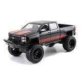 Jada Chevrolet Silverado Negro Camioneta Fuera De Carreter