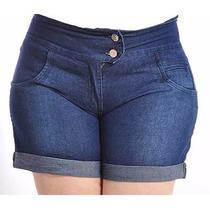#short Jeans Top Moda Kit C/3 Plus Size Hot Pant Customizado