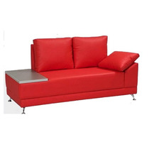 Sofa Sala Sillon Contemporaneo Modernista 2p Piel Elegante