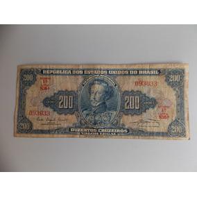Cedula De 200 Cruzeiros,estampa D. Pedro I,estado De Mcb