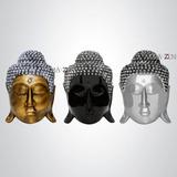Trio De Cabeças De Buda Parede - Estatueta Decoração Enfeite