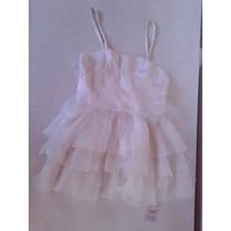 Vestido Blanco Con Tul Como Quieres Que Te Quiera Nuevo!!!