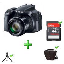Canon Powershot Sx60 Hs 64gb Bolsa Tripé 63x Zoom Wi-fi 16mp