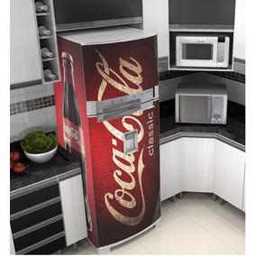 Adesivo Envelopamento Plotagem Geladeira Cocacola Classic