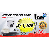 Kit 02 Camaras De Seguridad Hikvision 1tb + Instalacion