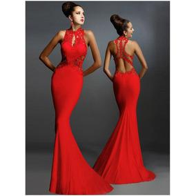 Vestidos de fiesta largo color rojo