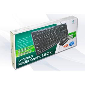 Combo Teclado/mouse Alambrico Logitech Mk200 Multimedia Usb
