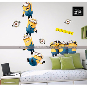 Vinilo Decorativo 3d Minions -6 Sticker Mi Villano Favorito