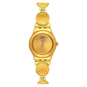 Swatch Womens Irony Ysg141g Gold Stainless-steel Quartz Watc
