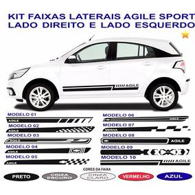 Acessorios Chevrolet Agile Adesivos Laterais Par Faixas