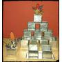 Souvenir Artesanías En Zinc-mini Maceta Cuadrada Pack X10u