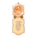 Adorno De Porta Para Quarto Bebê Anjo Da Guarda Com Oração
