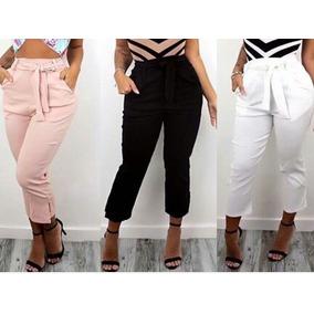 24fe901c0 Calça Pantacourt Rosa - Calçados, Roupas e Bolsas Violeta escuro no ...
