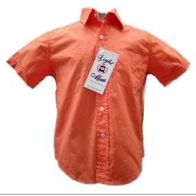 Camisa De Niño Naranja Manga Corta