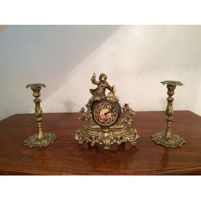 Relógio Garniture Em Bronze