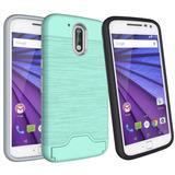 Para Motorola Moto G4 Plus Estuche De... (mint Gree.)