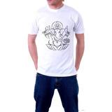 Camisa Ganesha Camiseta Masculina Fio De Ouro