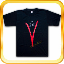 Remera V De Vendetta V De Venganza Cine Comic Pintada A Mano
