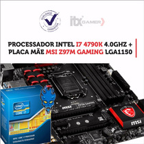 Kit Processador Intel Core I7 4790k + Msi Z97m Gaming
