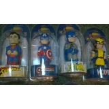 Head Knockers Batman, Capitan America, Wolverine Y Superman
